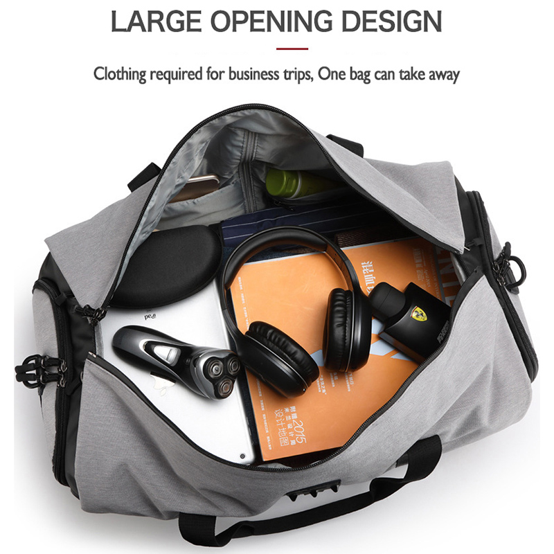 OZUKO sac à dos de voyage pour hommes costume stockage grande capacité voyage sac à main multifonction étanche voyage Mochila avec poche à chaussures - 5