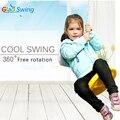 Oscilación ronda niños al aire libre equipos de gimnasia deportiva de plástico Mecedora Bebé columpio giratorio de 360 grados Envío gratis