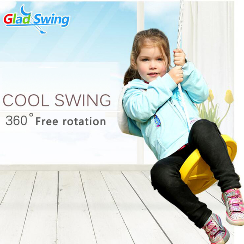 Round swing children outdoor sports fitness equipment plastic Swing Chair Baby 360 degree rotary swing Free shipping garden swing for children baby inflatable hammock hanging swing chair kids indoor outdoor pod swing seat sets c036 free shipping