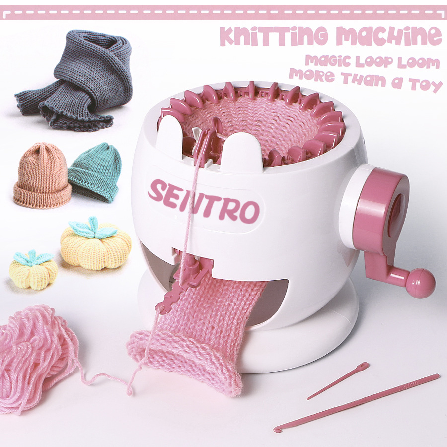Plastic Knitting Machine Children Weaving Loom Big Knitting Loom For Scraf Hat DIY Hand Sewing Machine Needle Arts Craft