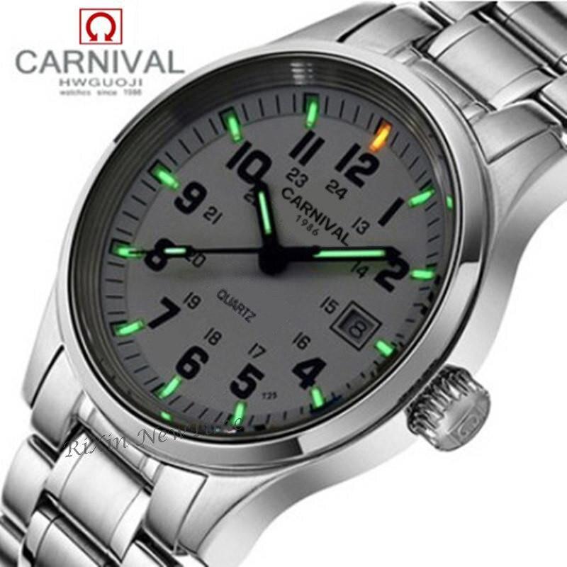 トリチウムライトブランド腕時計メンズミリタリーダイビング防水 200 m クォーツ発光フルスチールの高級ブランドの革ストラップ時計  グループ上の 腕時計 からの クォーツ時計 の中 1