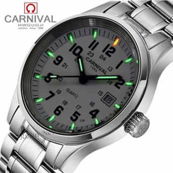 Tritium light brand watch men military dive waterproof 200M quartz luminous full steel luxury brand leather strap watches clocks - DISCOUNT ITEM  51% OFF All Category