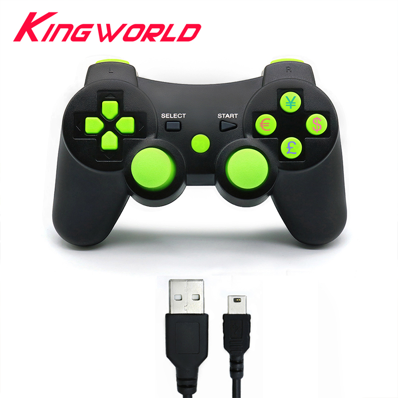 Wireless Vibration Bluetooth Game Controller Joystick Gamepad For sony playstation 3 for PS3 console with charge cable