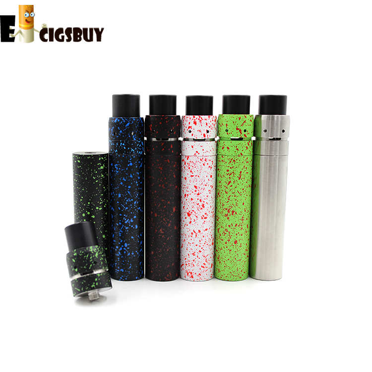 Splatter SMPL Mod with Velocity Mini RDA Electronic Cigarette Mechanical mode kit Fit 18650 Battery huge