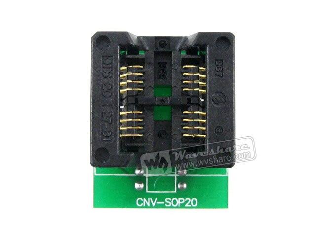 Waveshare 2-Units enplas ic مبرمج محول sop8 إلى dip8 اختبار المقبس 5.4 ملليمتر العرض 1.27 ملليمتر الملعب ل sop8 so8 soic8 حزمة