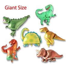 Big Giant Dinosaur Balloon Baby Shower Mini Head Dinosaurs Balloon Stick Birthday Party Decorations Kids Children Gift amazing giant dinosaurs