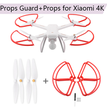 CW CCW Propeller for Xiaomi Mi Drone 4K Version Props Guard for Xiaomi 4k RC Protective Guard 1080P Bumper Quadcopter Blades 2 pairs set original cw ccw propeller set for xiaomi mi drone 4k version fpv drone rc quadcopter spare parts blades page 8 page 8 page 7 page 8