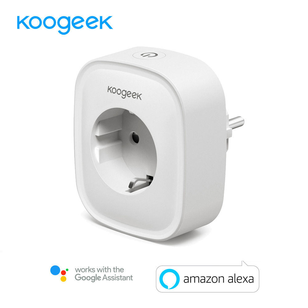 Koogeek Mini Wifi Smart Socket EU Power Plug 220V Works with Amazon Alexa Google Home Mobile APP Remote Control Energy Monitor 2pcs koogeek smart wifi socket eu power plug smart home plug wireless outlet app remote control for amazon alexa google home