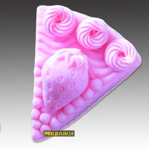 Strawberry cake shape Handmade soap mold candle moulds fondant decorating mould molding clay wholesale