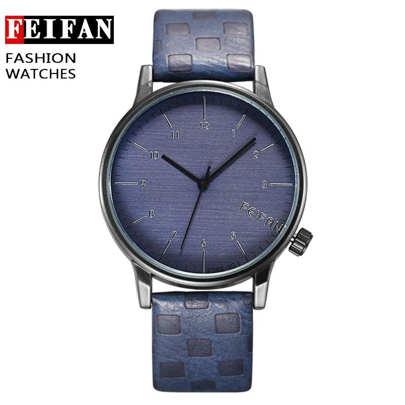 New Design Fashion Quartz Watches Men Casual Leather Strap ...