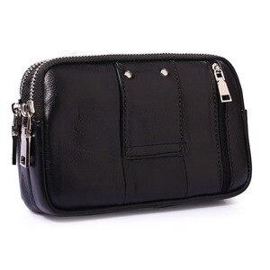 Image 2 - حقيبة جراب للهاتف المحمول/خلية عسكرية من جلد البقر للرجال مزودة بحزام للخصر