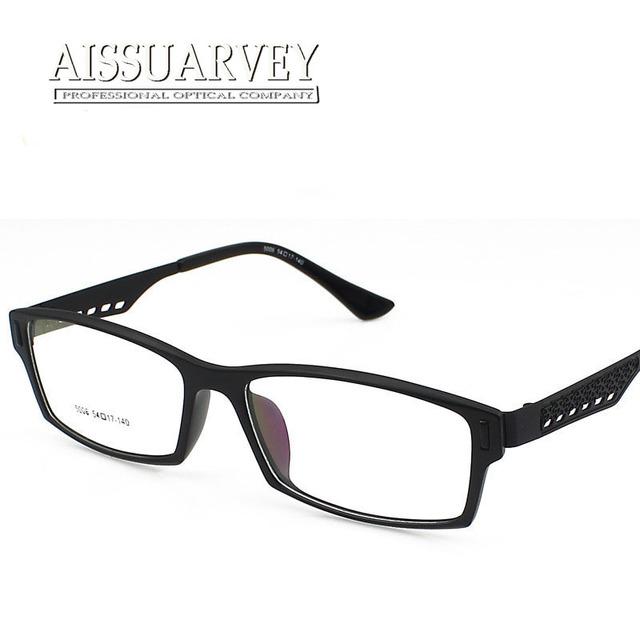 Los hombres de alta calidad gafas de monturas de gafas de prescripción de ancho negro de la vendimia diseñador de la marca de moda Coreano 1602 oculos chico luz