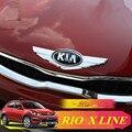 NOVO RIO X LINHA Emblema 3D Etiqueta Etiqueta Do Logotipo Da Tampa Do Quadro para KIA RIO X LINHA 2017-2019