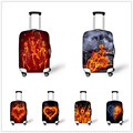 2016Travel Luggage Suitcase Trolley Case Protective Covers Fire Skull Stretch apply to 18 -30 Inch Cases Bags Heart Dust Cover