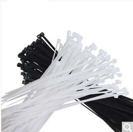 250 Pcs/pack 8*350 400 450 500mm CE approuvé blanc noir couleur Auto-verrouillage En Plastique Câble En Nylon, Fil Zip Tie