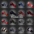 Hombres ocio plaza accesorios moda de gama lazos de punto 2015 caballeros de negocios 16 colores corbatas CBJ001
