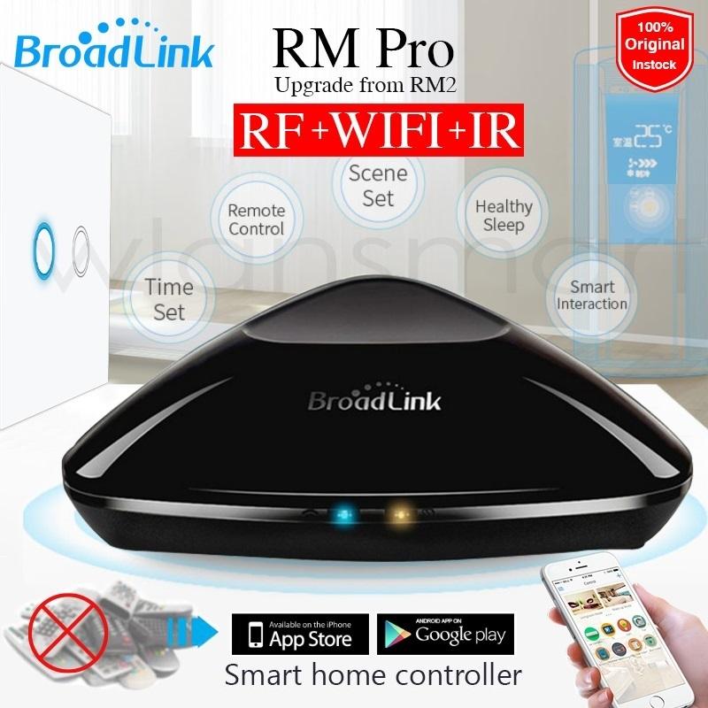 Prix pour 2017 Broadlink RM Pro RM03 Universel contrôleur Intelligent, Intelligent domotique, WIFI + IR + RF télécommande pour IOS iPad Android