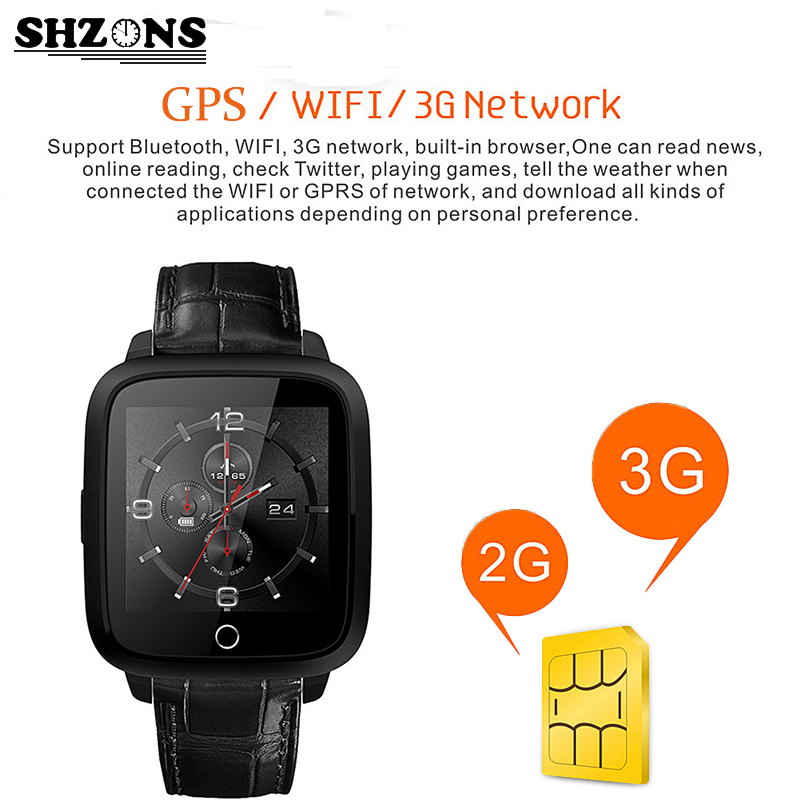 3G Smartwatch Quad Core GPS WIFI Smart Bracelet 8GB LCD With MIC Heart Rate Monitor Camera for Android IOS Sport Watch Phone smart watch z01 bluetooth android 5 1 smartwatch 1gb ram 8gb rom wifi gps sim camera gps heart rate monitor for ios android