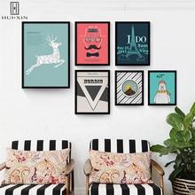 Nordic Canvas Paintings Azure Eiffel Tower Lovely White Bear Sunrise Landscape Of Vitality Decorative For Home Decor