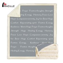 Miracille Faith Throw Blanket With Inspirational Thoughts and Prayers Sherpa Fleece Hope Blankets for Family