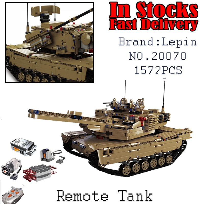 LEPIN Military RC Tank 20070 1572pcs Building kits Blocks Bricks educational DIY toys for children Christmas gifts brinquedos military star wars spaceship aircraft carrier helicopter tank war diy building blocks sets educational kids toys gifts legolieds