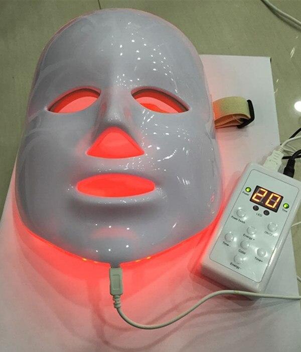 7 couleurs photon PDT led soins de la peau masque facial bleu vert rouge thérapie de la lumière PDT led photon masque facial