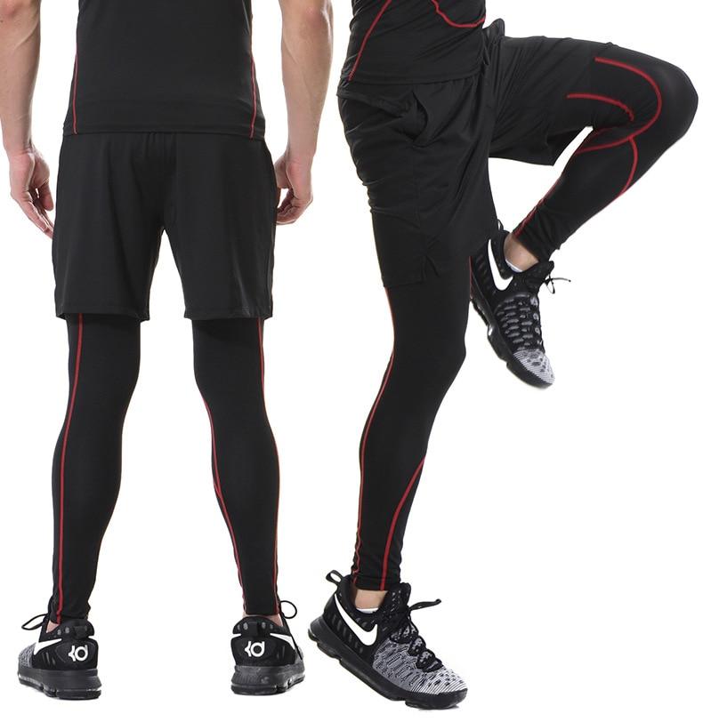 Linie Walker Gym Leggings Compression Fitness Hosen Bodybuilding Sport Strumpfhosen Hose Lauf Hosen für männer Sport Tragen