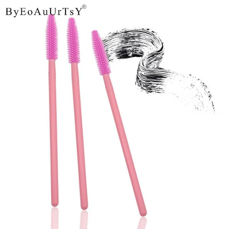 New 1000PCS Disposable Silicone Eyelash Mascara Wands Brushes Cosmetic Eyelash Extension Applicators Professional Makeup Tool