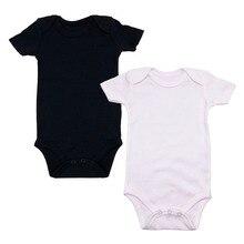 2 Pcs/Lot Solid color Short sleeve Newborn Clothes Cotton Unisex Baby Bodysuits summer 3-24M Infant clothing O-Neck Kids
