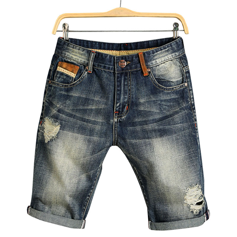 2018 Men Summer Denim Shorts Male Jeans Men Jean Shorts Bermuda Skate Board Mens ...