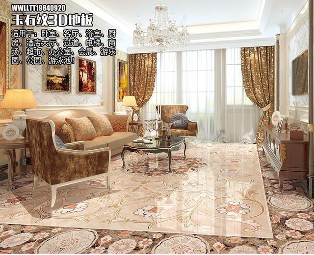 Marmer In Woonkamer : Custom zelfklevende behang d vloeren marmer waterdicht behang
