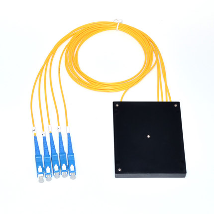 2 pcs PLC 1x4,ABS 5 ports with SC/UPC and 1.0m length 2.0mm loose tube