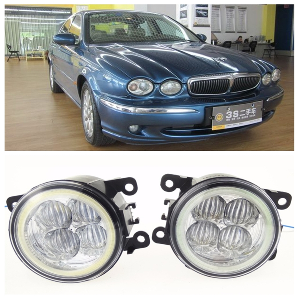 For JAGUAR X-Type CF1 Saloon 2001-2009 10W high brightness LED Angel eyes fog lights Car styling fog lamps for lexus rx gyl1 ggl15 agl10 450h awd 350 awd 2008 2013 car styling led fog lights high brightness fog lamps 1set