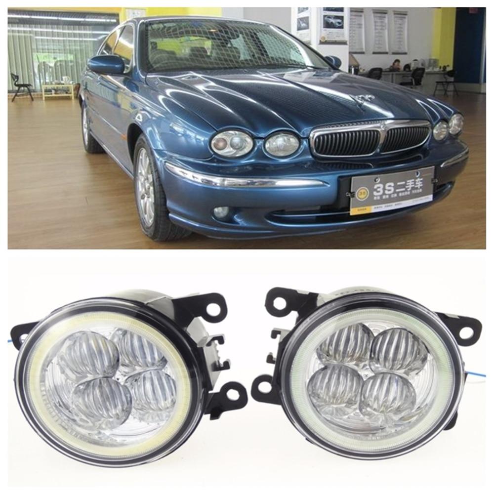For JAGUAR X-Type CF1 Saloon 2001-2009 10W high brightness LED Angel eyes fog lights Car styling fog lamps купить jaguar x type бу