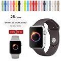 2016 Setembro new cores cacau oceano azul silicone banda esporte para apple watch série 1 e série 2