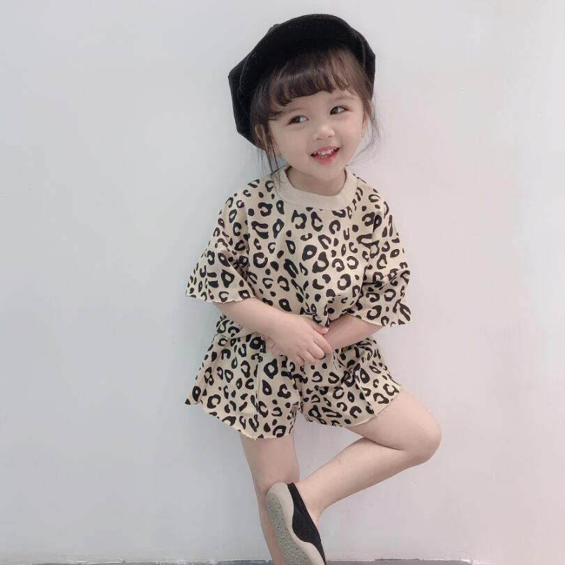 97229a159742 2019 Leopard Print Korean Tops+Shorts 2 Piece Set For Girls Children's  Clothing Sets Toddler Baby Girl Summer Clothes Kids Suit-in Clothing Sets  from Mother ...