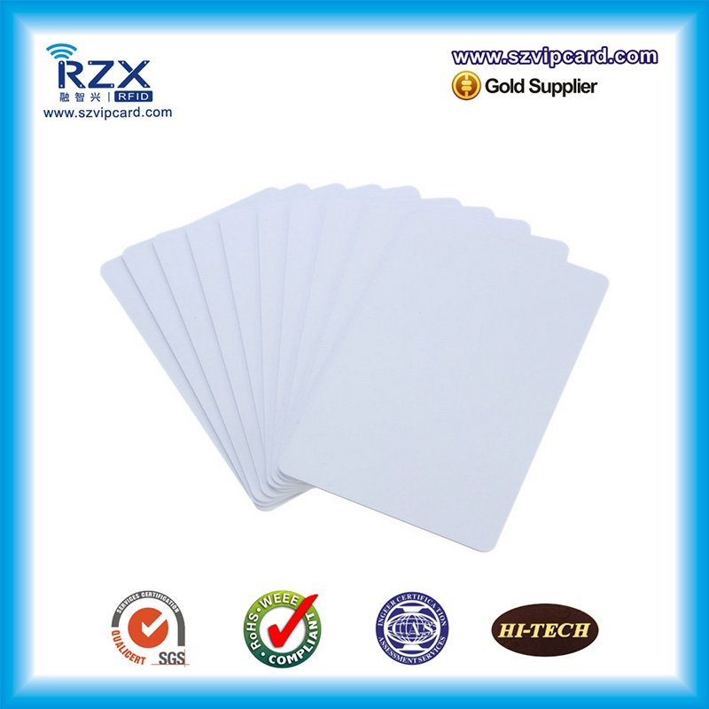 Hot 1000pcs White Cards CR80 Blank Card Cheap Price PVC Card