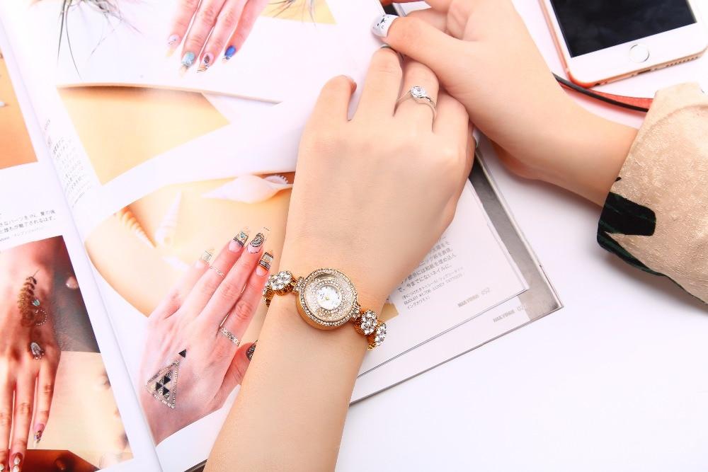 Zegarek marki BELBI Zegarek kwarcowy Ladies Gold Silver Fashion - Zegarki damskie - Zdjęcie 6