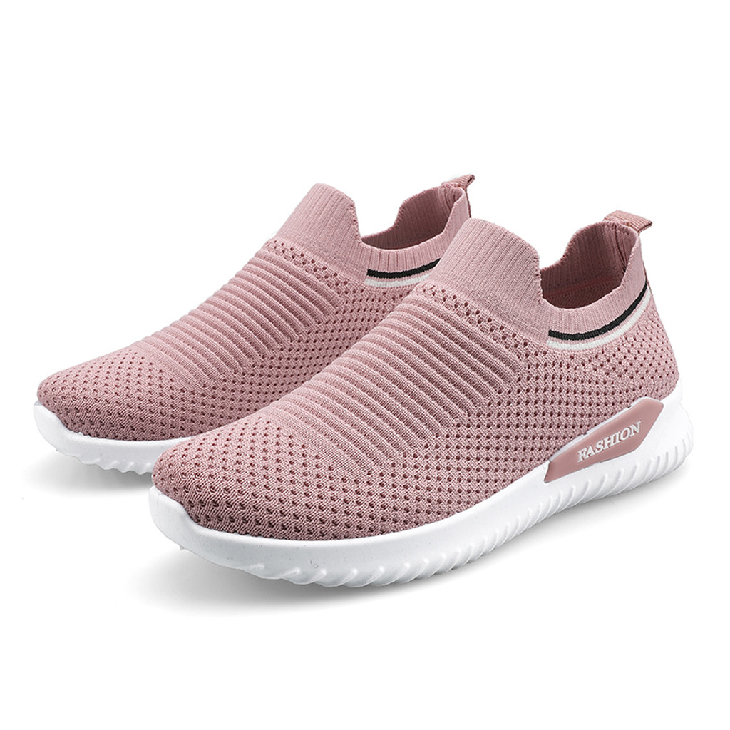 KANCOOLD Women's Breathable Mesh Shoes Outdoor Fitness Running Sport High Quality Comfortable Wear-resistant Slip-On Sneakers