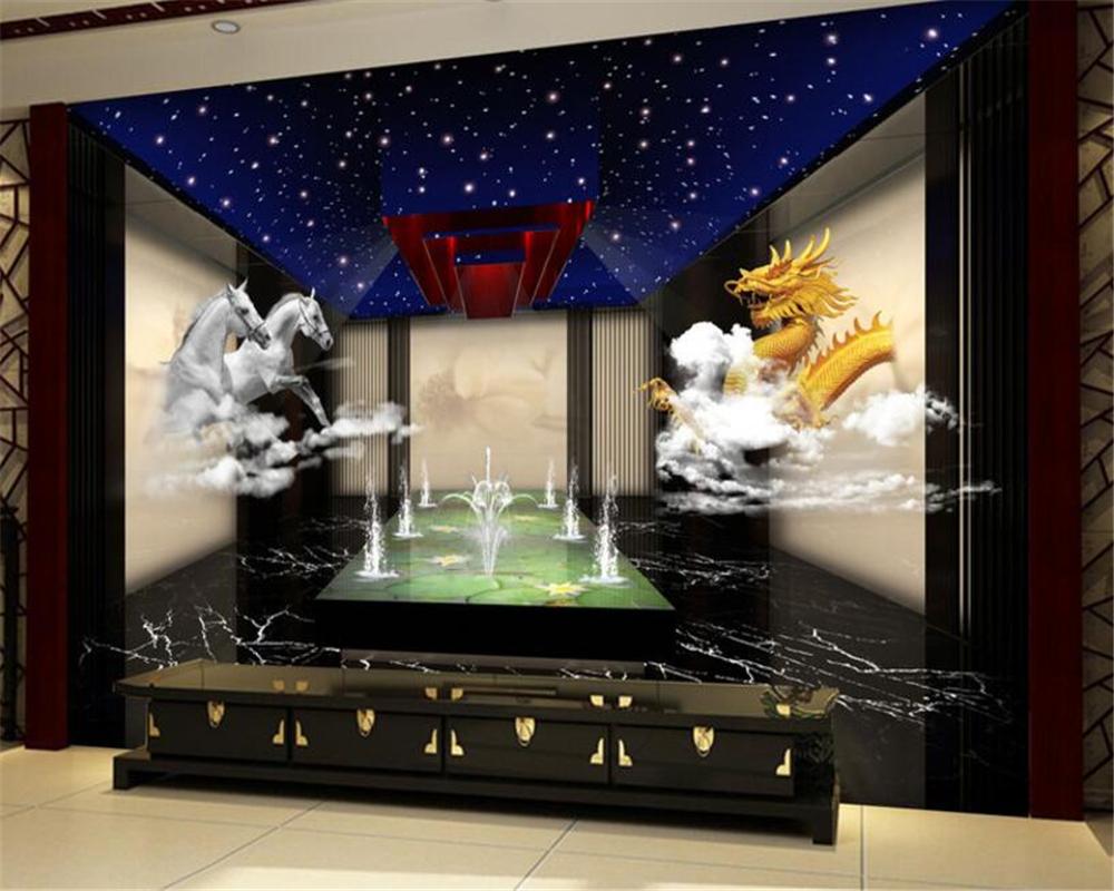 Drachen Tapete-kaufen Billigdrachen Tapete Partien Aus China ... Fototapete Wohnzimmer Beige