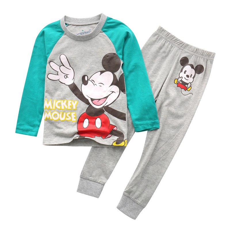 2018 Children clothing sets hot selling kids clothes cotton autumn spring baby wear 2 pcs top and bottom sleepwear home wear