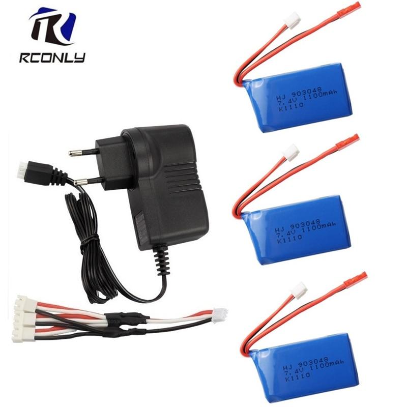 7.4v 1100mah Lipo Batterie Usb Kabel für Wltoys A949 A959 A969 A979 V912
