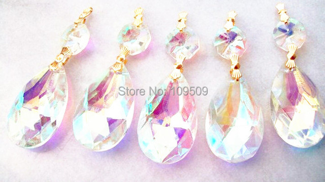 Chandelier Crystals Mm Teardrop Crystal AB Ornaments Aurora - Chandelier crystals teardrop