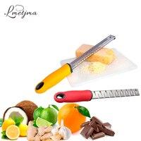 LMETJMA Citrus Lemon Zester Stainless Steel Cheese Grater Ginger Garlic Nutmeg Chocolate Grater With Non Slip