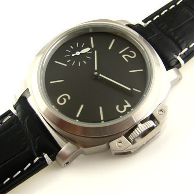Parnis 44mm black dial seagull 6497 movement manual chain male watches - Station store
