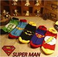 Superman batman capitán ee.uu. clásica summer estilo feliz divertido calcetines patrón de caracteres de superhéroes de dibujos animados calcetines para hombre mujer