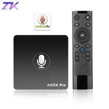 Google ТВ коробка A95X Pro 2 г 16 г Smart Android 7,1 ТВ Ящик Голосовой Управление Amlogic S905W Wi-Fi LAN HD медиаплеер PK X96mini X96 мини