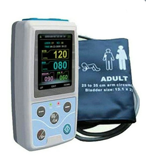 24 Hours Multifunctional Patient Monitor With Integrative SpO2 Probe Digital Ambluatory Best Blood Pressure Monitor abpm50 ce fda approved 24 hours patient monitor ambulatory automatic blood pressure nibp holter with usb cable