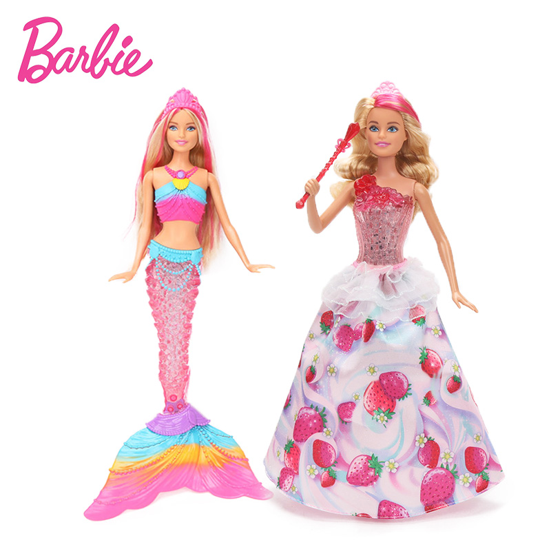 New Original Barbie Doll Dream To Pia Sweetville Princess Doll Rainbow Lights Mermaid Barbie Doll Toy Birthday Gift for Girls ipc board pia 662 sent to the cpu memory used disassemble