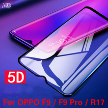 JGKK 5D Curved Edge Tempered Glass For OPPO F9 F9Pro R17 Pro Full Cover Screen Protector Protective Film Shield